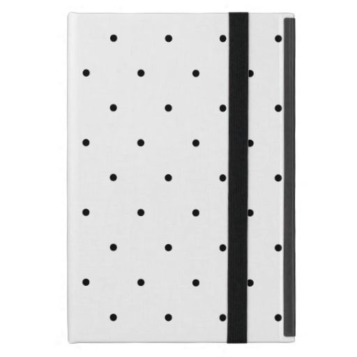 Black And White Polka Dot Cover For iPad Mini  #ipadcase #polkadots #spots #polkadotipad #ipadminicases #ipadcovers #blackandwhite #spotty