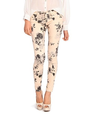 subdued floral jeans $39 - what a great deal for totally fabulous