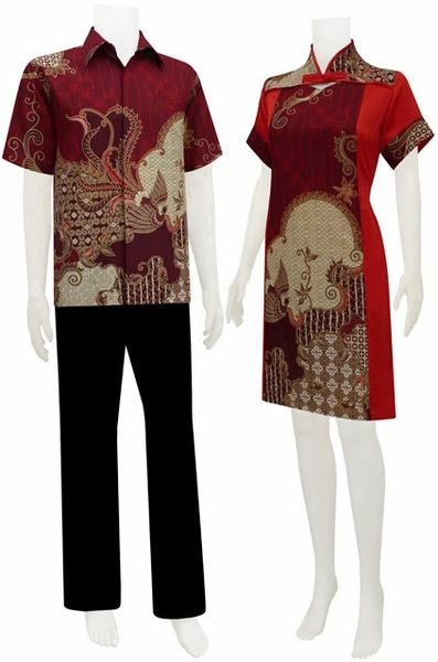Jual Gaun / Dress Baru - Batik sarimbit dress kancing shanghai ...