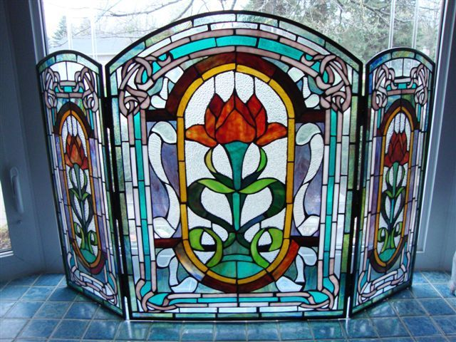 Best 25 Stained Glass Fireplace Screen Ideas On Pinterest Glass Fireplace Screen Stained