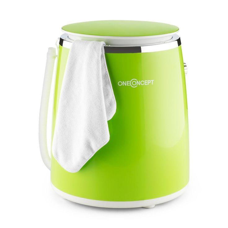 Amazon.de: oneConcept Ecowash-Pico Camping Mini-Waschmaschine (Toploader, mit Schleuder-Funktion, für 3, 5 kg Wäsche, 380W) grün