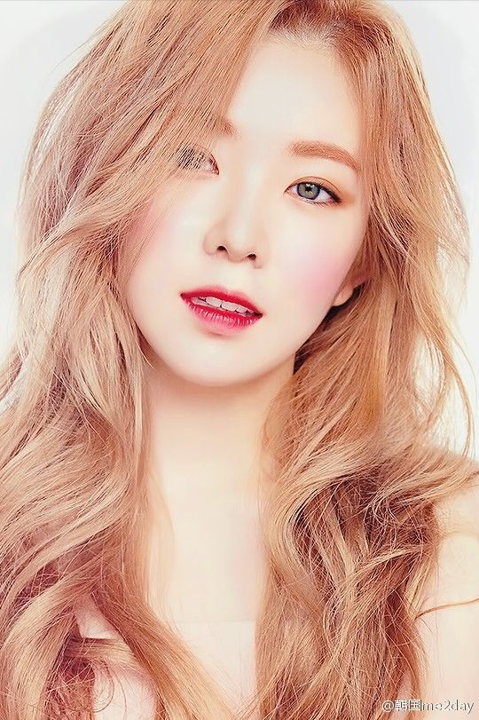 Irene with blond hair