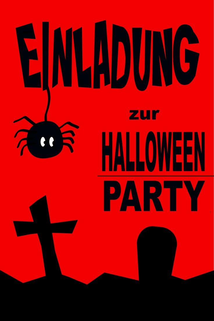 die besten 25+ halloween party einladungen ideen auf pinterest, Einladung