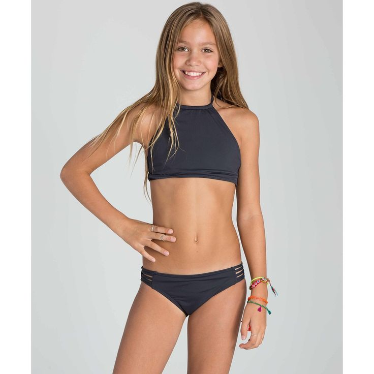 Amazon.com: Billabong Big Girls Sol Searcher Hi Neck Swim Suit, Black Sands, 4: Clothing