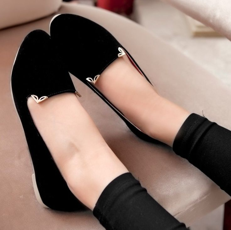 ENMAYER Black Blue Red Orange Fashion Women Flats Sweet Shoes Brand New Ballet Stylish Flat Shoes Woman Size 35-39 $44.20