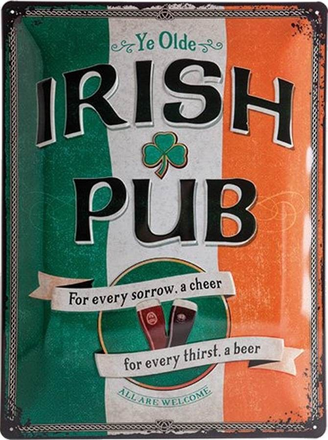 Plaque émaillée Beer Bar Pub Pub irlandais