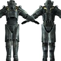 The T-45d power armor is a piece of armor found in Fallout 3, Fallout: New Vegas and Fallout...