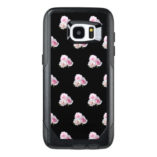 Three pink roses. OtterBox samsung galaxy s7 edge case #samsungcase #samsunggalaxycase #samsunggalaxys7case #customized #personalized #POD #artwork #buy #sale #giftideas #zazzle #discount #deals #gifts #shopping #mostpopular #trendy #cool #best #unique #stylish #gorgeous #photo #photography #roses, #flowers, three, light, white, tenderness, love, three, bunch, bouquet, garden, #nature, personalized, #customized , #floral, #choosebackgroundcolor #choosecolor #black