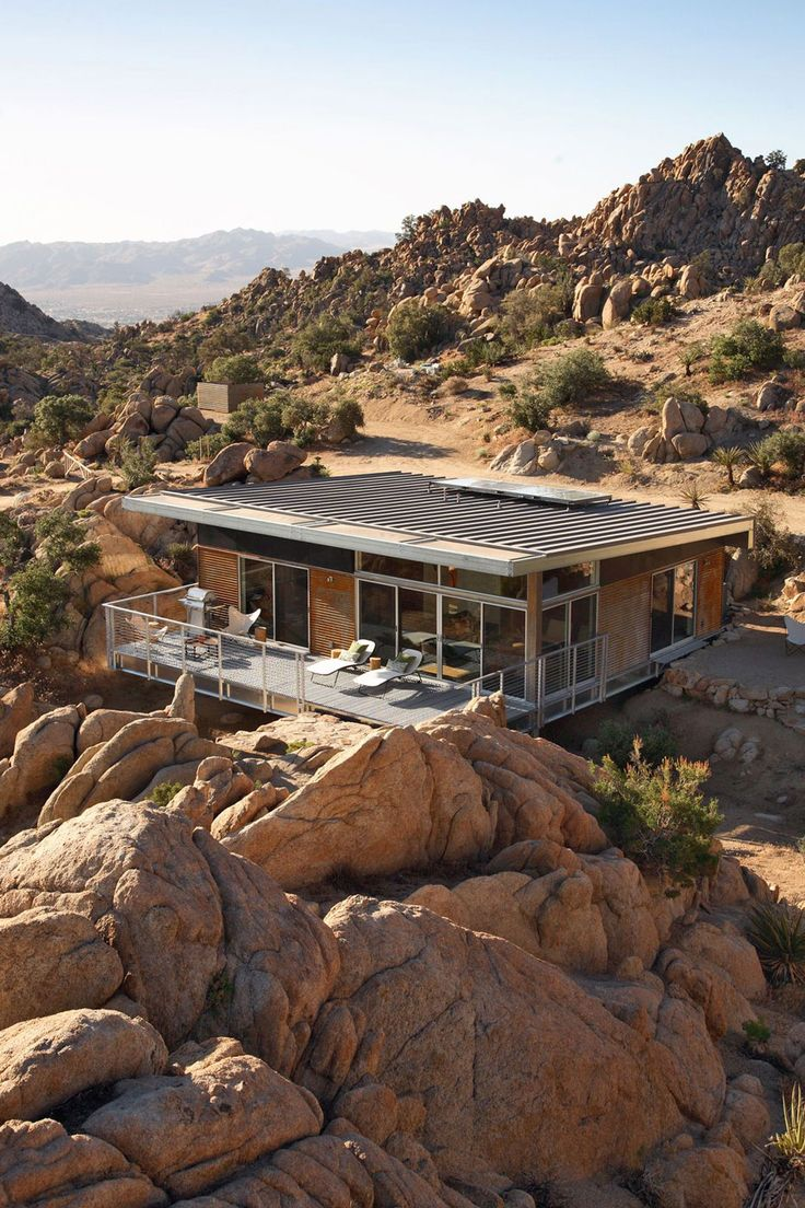 Rock Reach House by o2 Architecture: Cabin, Mojav Desert, Blue Sky, Dream, Container House, Palms Spring, O2 Architecture, Rocks, Organizations Design
