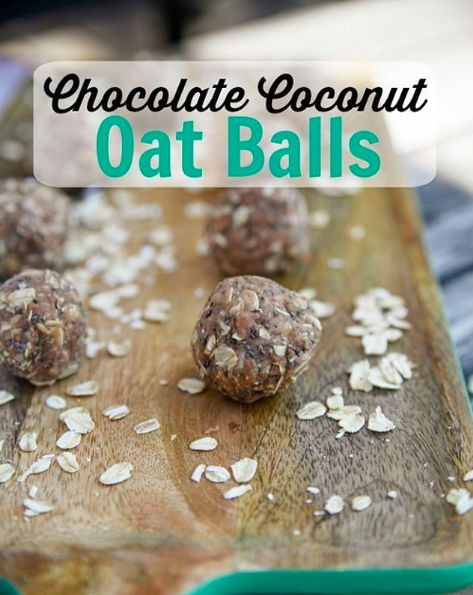 Chocolate Coconut Oat Balls   22 Go-To Snacks Real Healthy People Actually Eat