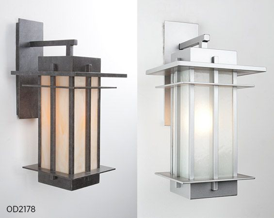 """A perfect mix of Craftsman and Contemporary outdoor lighting. This versatile design offers tremendous design value in a generously sized 22""""H x 11""""W x 13""""D fixture."""