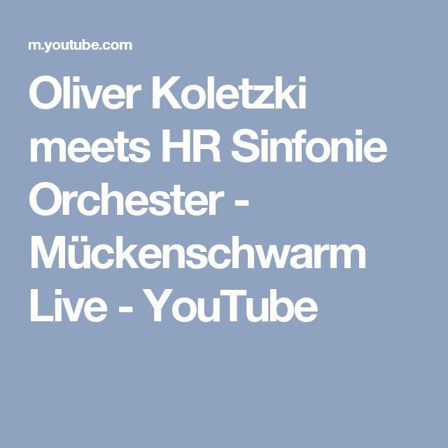 Oliver Koletzki meets HR Sinfonie Orchester - Mückenschwarm Live - YouTube