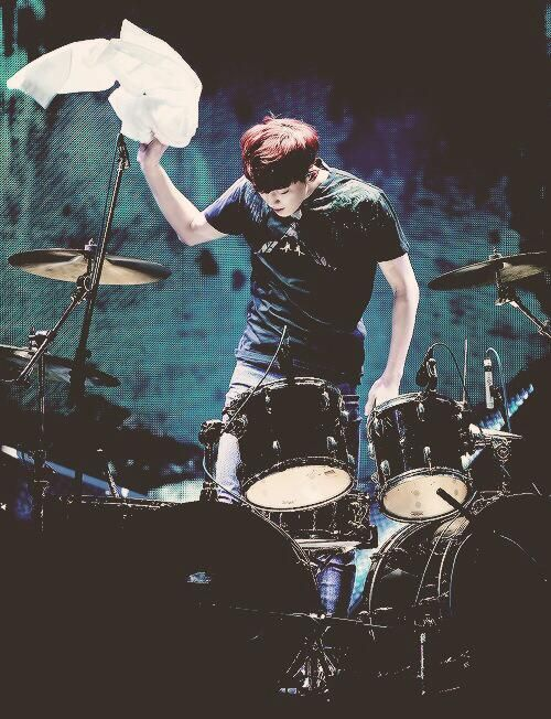 I love that fact that he can play the drums. Also a little jealous. I've always wanted to learn drumming