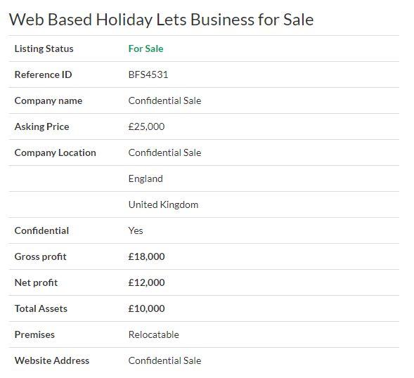 Businesses for sale - Web Based Holiday Lets Business for Sale Ref. BFS4531 Location #EastSussex,#UK   Asking Price £25,000 #Ownersellers #FreeOnlineBusinessTransferAgent #OnlineBusinesstransferagent   #sellingyourbusinessonline #Freebusinessvaluationonline #businessesforsaleonline   #freeonlinebusinesstransferagency #HolidayLets #Hotel #caravans #WebBased