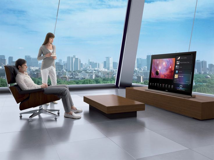 Not only a Smart TV, but, these windows could use QMotion Automated Shades!  We install!