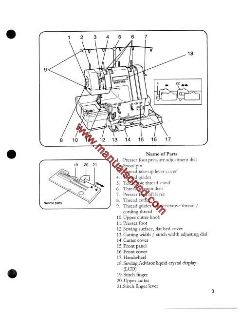 Husqvarna Viking 936 HuskyLock Sewing Machine Instruction