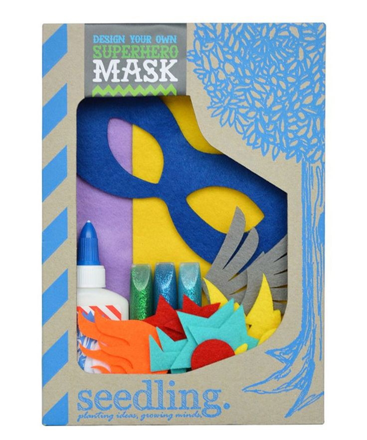 Look at this #zulilyfind! Design Your Own Superhero Mask Kit by Seedling #zulilyfinds