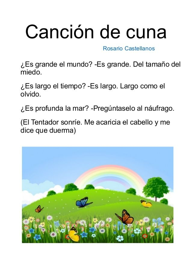 Poemas para niños de primaria