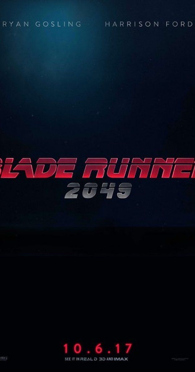 Directed by Denis Villeneuve.  With Ana de Armas, Ryan Gosling, Jared Leto, Harrison Ford. Thirty years after the events of the first film, a new blade runner, LAPD Officer K (Ryan Gosling), unearths a long-buried secret that has the potential to plunge what's left of society into chaos. K's discovery leads him on a quest to find Rick Deckard (Harrison Ford), a former LAPD blade runner who has been missing for 30 years.