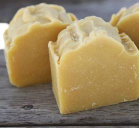 RAW Handmade soaps - JUICE BAR, made with fresh Mandarin Juice