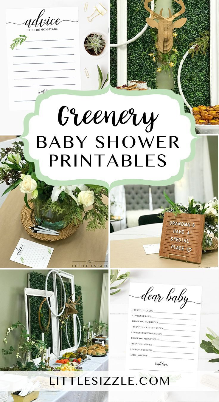 Greenery Themed Baby Shower Ideas By Littlesizzle Greenery Themed