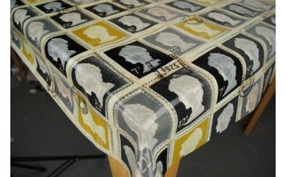 First Class Stamps Oilcloth Tablecloth