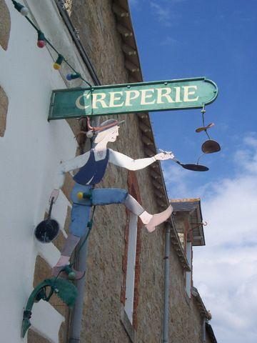 Creperie - cutest Brittany town -  Piriac Sur Mer