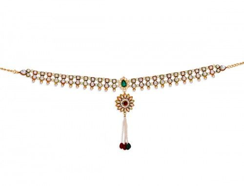 Wedding jewelry Traditional style Gold Polish Maroon & Green stone & Kundan studded #Kamarband for Women @eindiawholesale For #wholesale & #Reselling Please Whatsapp at +91-9414 606 315