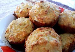COCONUT CHEESE SCONES - Scone-like muffin made with coconut flour and ground almonds. 2.4 g carbs Visit us at: https://www.facebook.com/LowCarbingAmongFriends