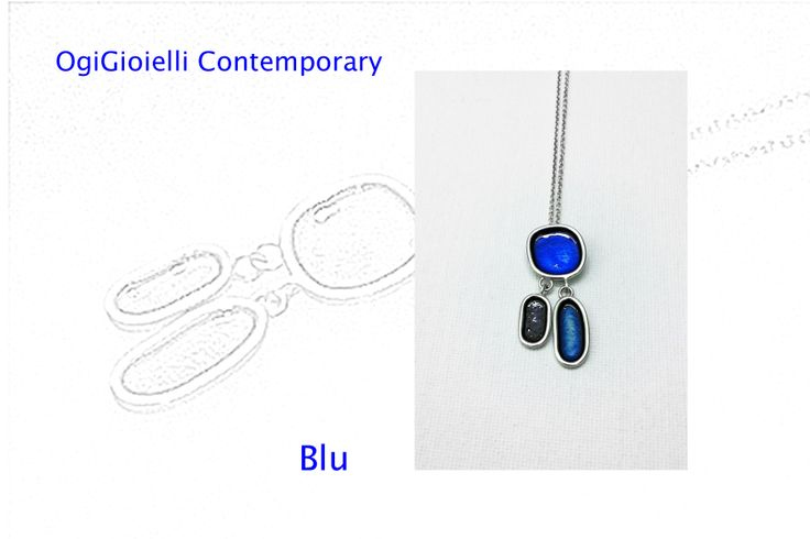 Blu, 2014  Ciondolo, argento925, smalto. Pendant, silver925, enamel. € 80.00
