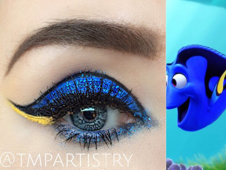 Finding Dory inspired graphic liner. #makeup #beauty