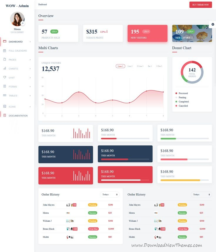 Wow is clean and modern material design 3in1 responsive bootstrap #admin #dashboard template with huge collection of reusable #UI components and latest jQuery plugins 👉🏻click on the image to download now.