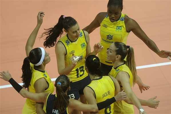 Female volleyball player from Brazil.