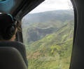 Kauai Helicopter Tour - view looking out from seats. Photo   Teresa Plowright.