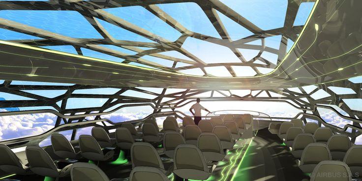 In #futuro cammineremo sulle #nuvole grazie all' #airbus trasparente...