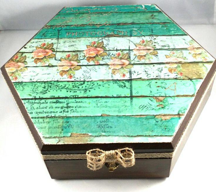 Decoupage Jewelry Box Vintage