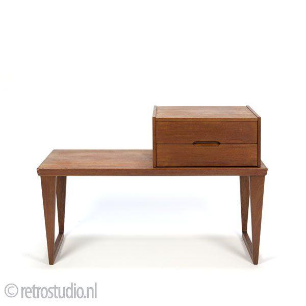 vintage design Aksel Kjergaard telefoon tafel