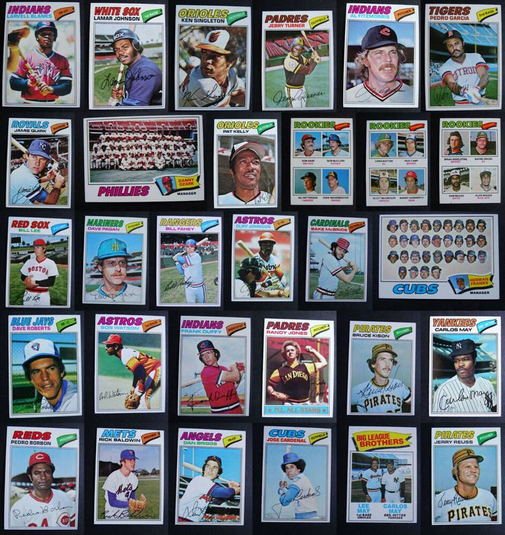 1977 topps baseball cards complete your set u you pick