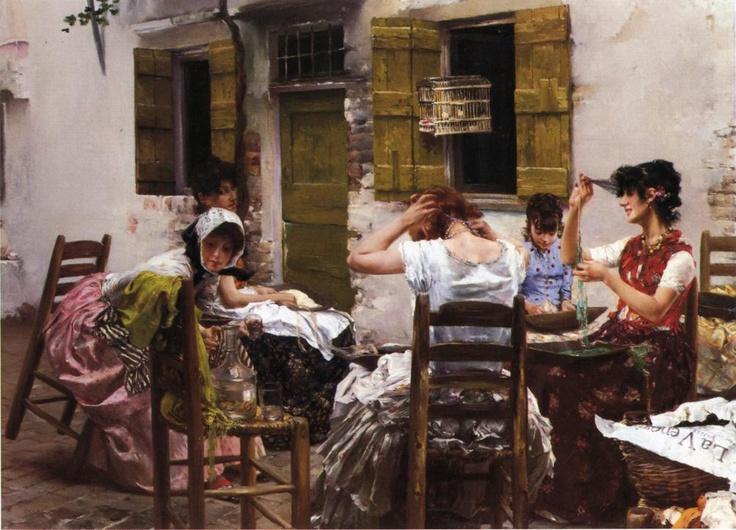 """Venetian Bead Stringers"" -1887 Robert Frederick Blum"