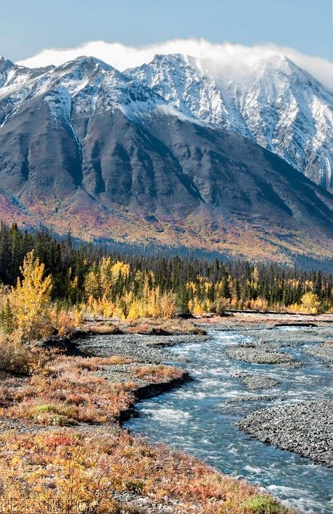 The Yukon Territory, Canada. I have pictures from what looks like this exact vantage point