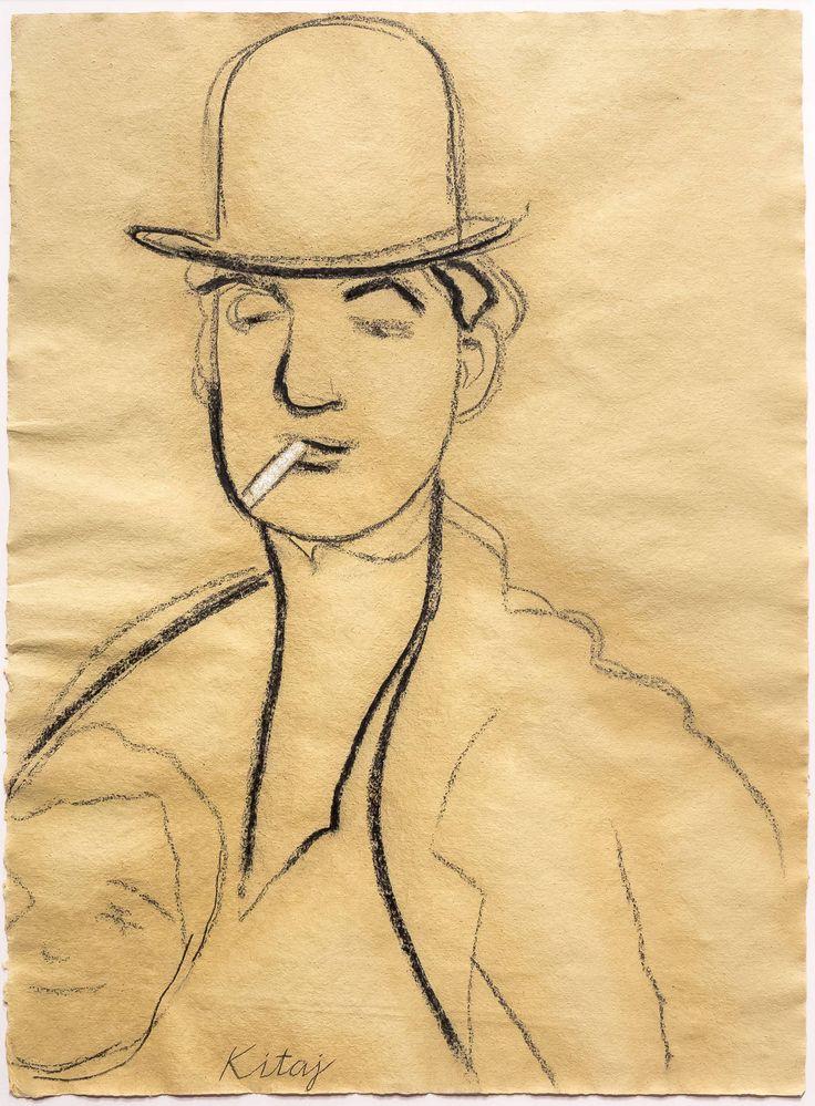 """Jules Pascin, 2005, """"Kitaj"""" Charcoal on paper."""