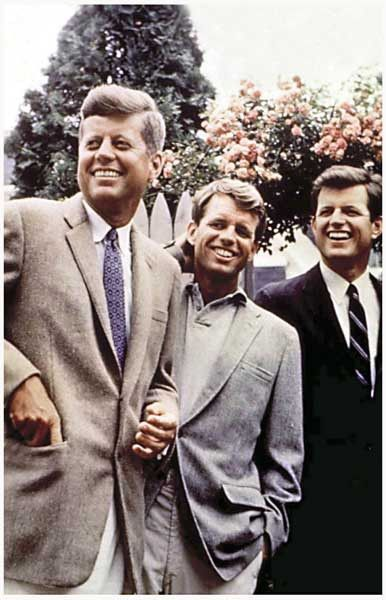 A nice color portrait poster of the Kennedy brothers in the 1960's - John F Kennedy, Robert F Kennedy, and Ted Kennedy. Ships fast. 11x17 inches. Need Poster Mounts..?