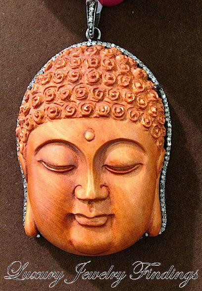 $698 Buddha Jewelry Wood and Diamond  Buddha by LuxuryJewelryFinding