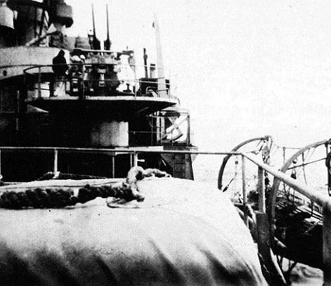 German 37mm antiaircraft on Nordland - The former; Danish Frigate - Niels Juel - class coastal defence ship l/light cruiser.