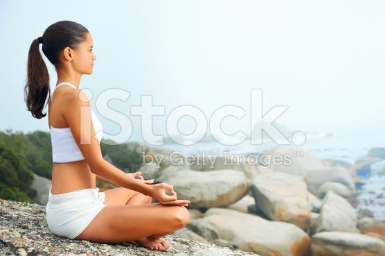 Stile di vita yoga donna - fotografia stock royalty-free
