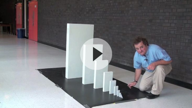 How many dominoes would it take to topple a sky scraper? That's crazy!! And this guy made me laugh lol