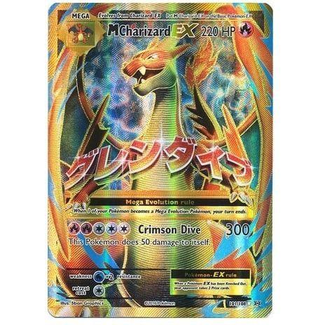Pokemon TCG XY Evolutions Ultra Rare 101/108 M Charizard EX Full Art Pokemon Singles Unplayed NM