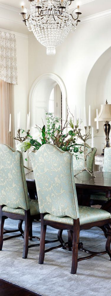 Jauregui Architects   Dining Room   Southern Mississippi  Elegant DiningDining  Room ChairsDining RoomsMediterranean StyleMississippiNail  195 best DINING ROOM images on Pinterest   Dining room design  . Mediterranean Style Dining Room Chairs. Home Design Ideas