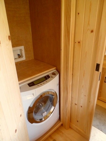 we arent sure if we should do a washerdryer it would be nice to have but would be tough off grid if theres a space in our design that you think would - Tiny House Washer Dryer