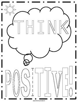 Positive Sayings Coloring Pages | Coloring pages, Positive ...